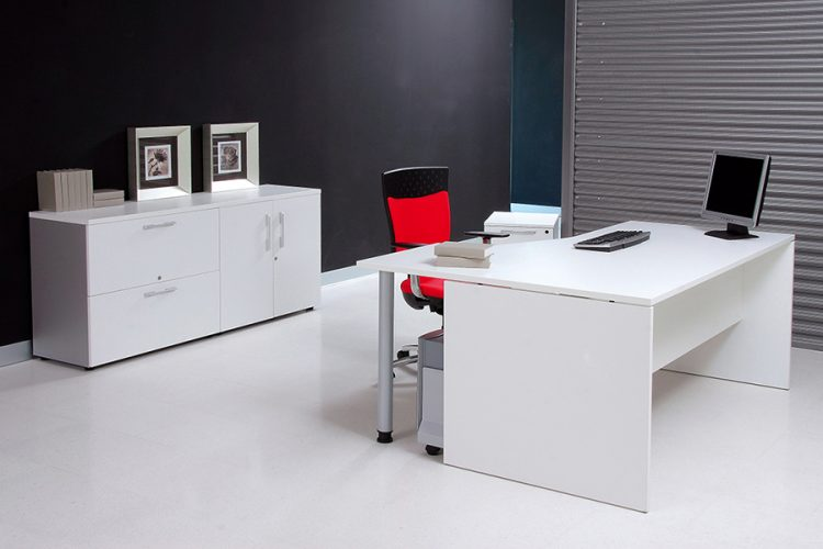 Mesa serie básica color gris
