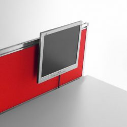 división frontal con soporte de monitor