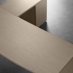 mesa block con ala y cajonera apoyo