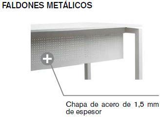 Faldon mesa metalico para serie logos