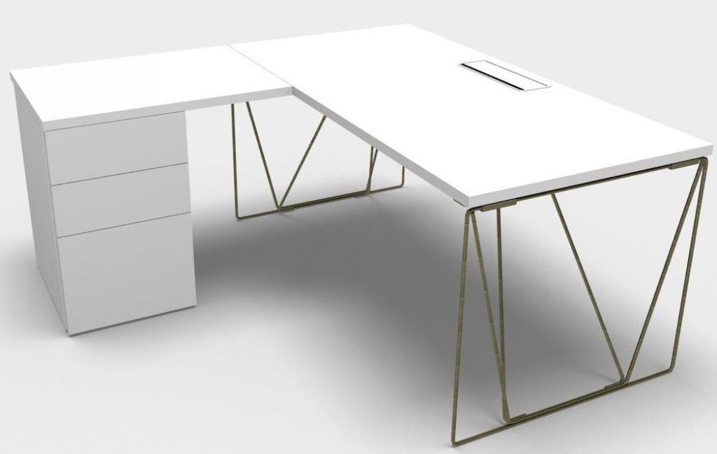 Mesas Let´work con auxiliar color blanco