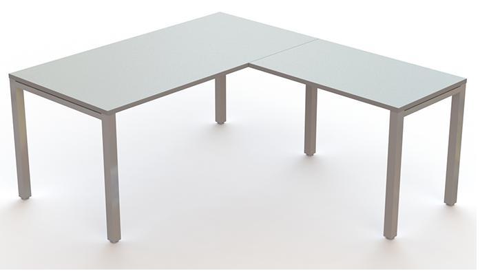 Mesas econix gris estructura metálica gris con ala auxiliar