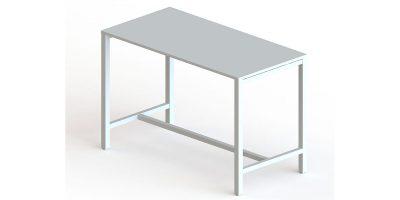 Mesas eco alta gris estructura metalica