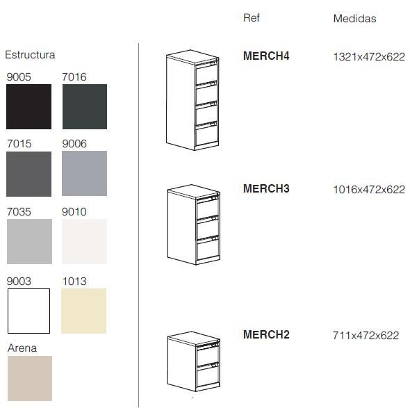 Archivadores metálicos y cajón metálico y medidas 4 cajones antivuelco medidas y acabados