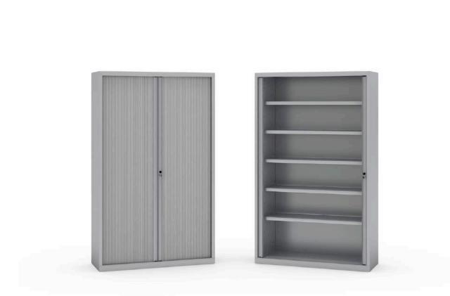 Armarios de persiana apertura vertical color gris