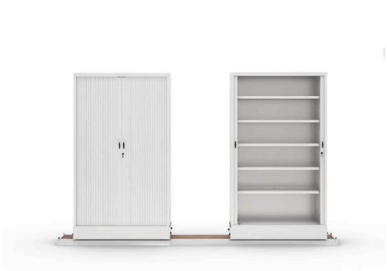 Armarios de persiana apertura vertical color blanco