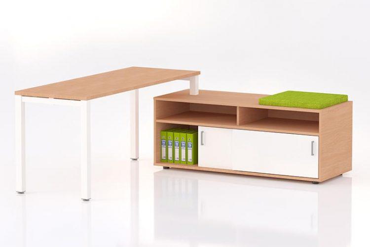Mesa eco nix con mueble auxiliar soporte