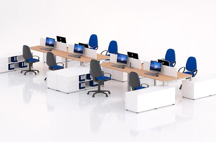 Mesas Eco nix con mueble auxiliar