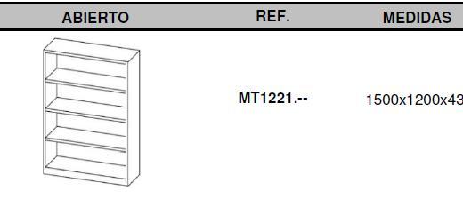 Armarios metálicos medidas 150x120