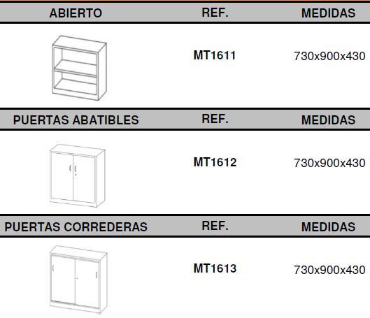 armarios metálicos altura 73