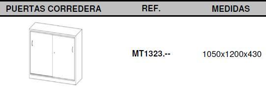 Armarios metálicos medidas 105x120 puertas correderas