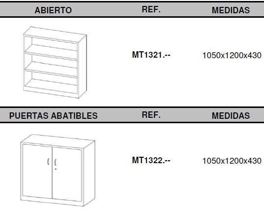 Armarios metálicos medidas 105x120 medios