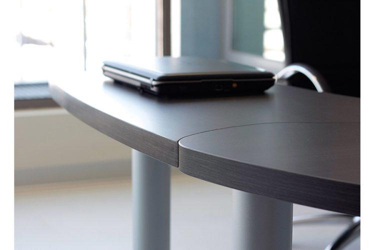 Mesas despacho Duo curva detalle