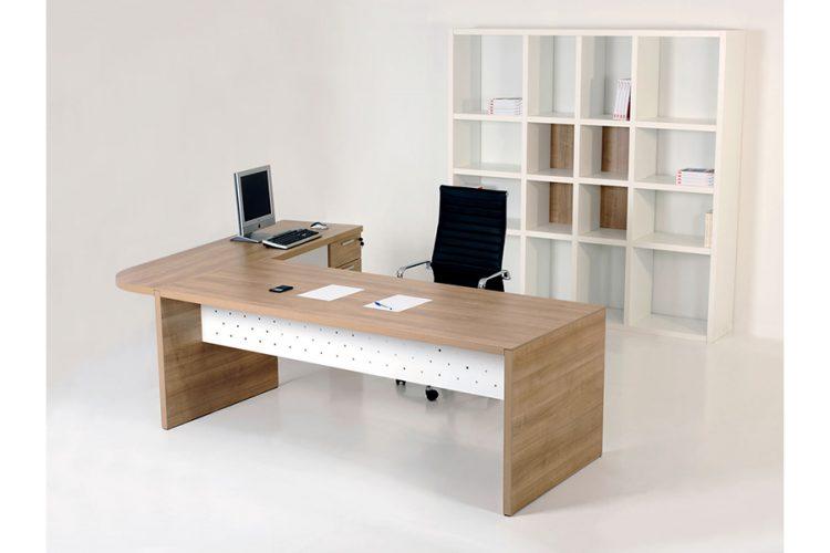 Mesa pannel despacho de dirección madera roble