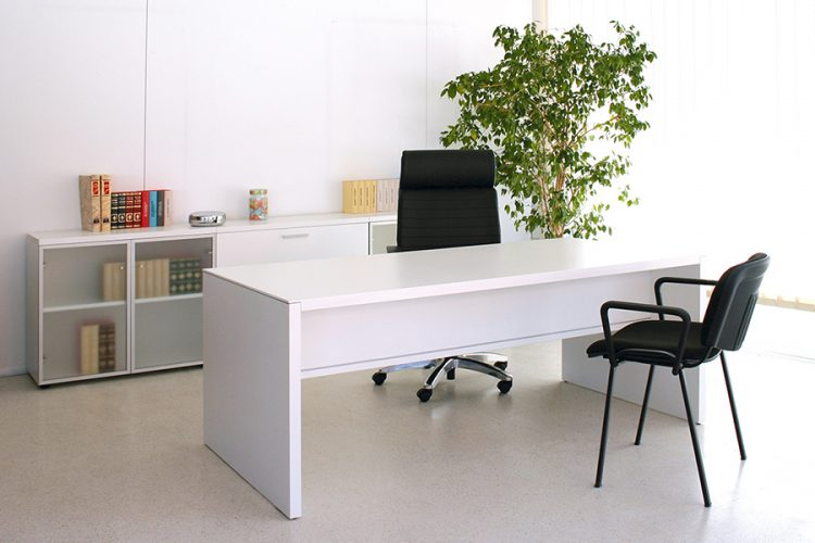 Mesa pannel despacho de dirección color blanco