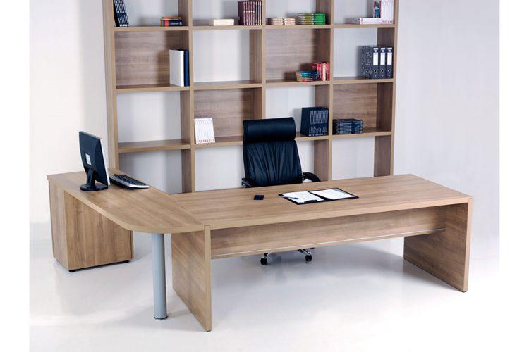 Mesa pannel despacho de dirección madera roble claro