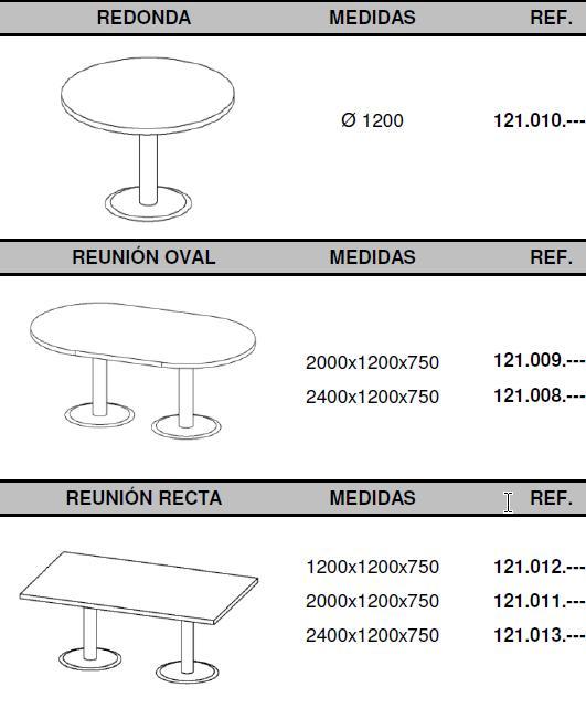 Mesas de juntas para serie Pannel de dirección