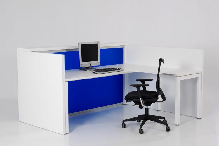Mostrador Pannel combinación azul con blanco