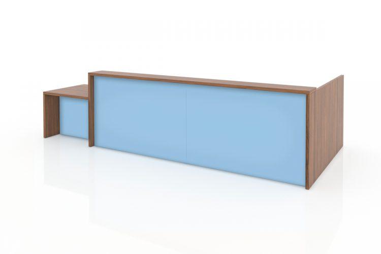 Mostrador Pannel combinación colores combinados azul cielo