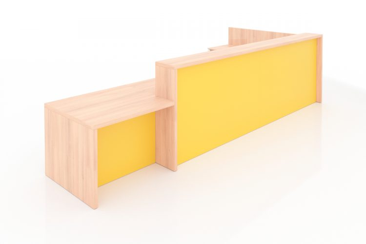 Mostrador Pannel roble amarillo