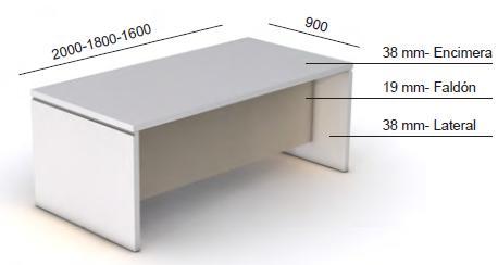 Mesas dirección G 3.1 medidas y características