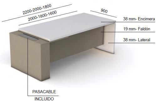 Mesas dirección G 3.2 medidas y características