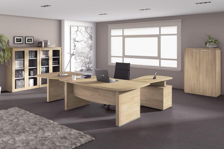 Mesa de despacho para dirección Benelux madera clara