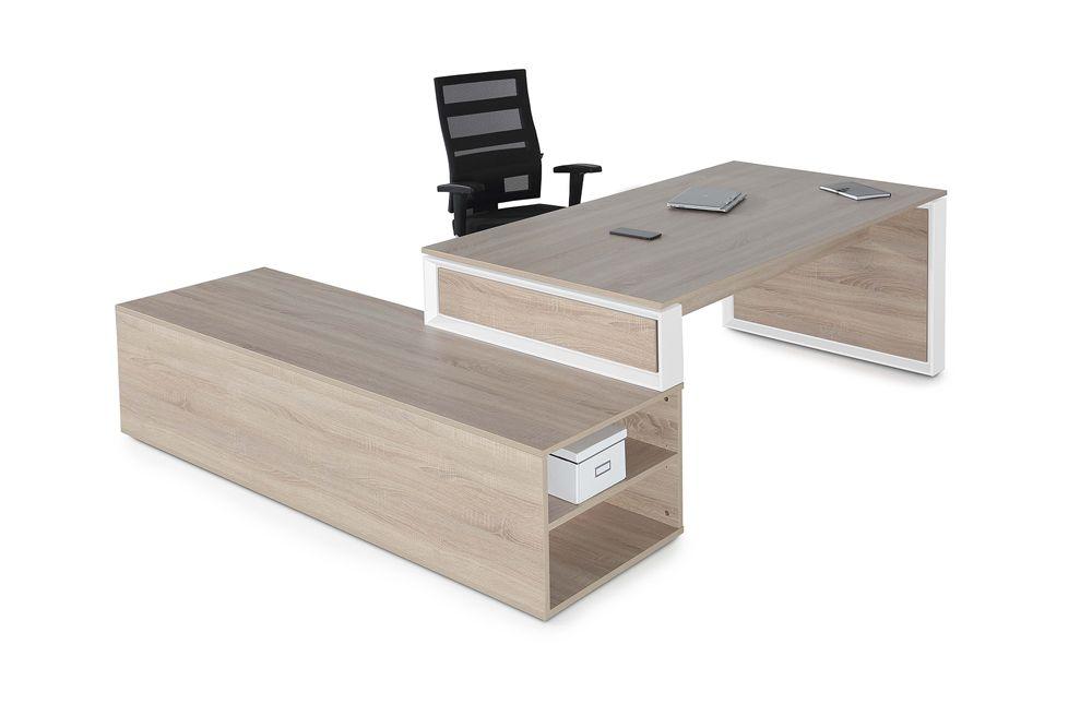 Mesas dirección Omega con mueble auxiliar