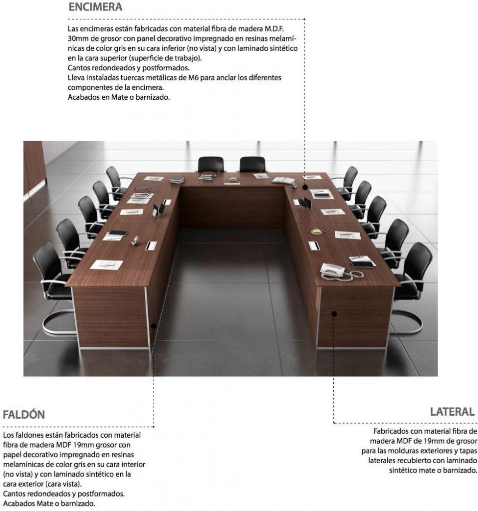 Mesa conferencia serie líder
