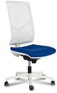 silla zoe 4 respaldo y estructura blanca