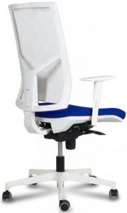 trasera silla zoe 4 respaldo y estructura blanca brazos regulables