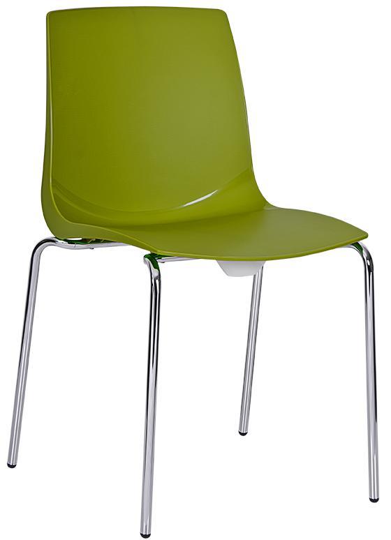Silla Cloe monocasco en polipropileno color verde