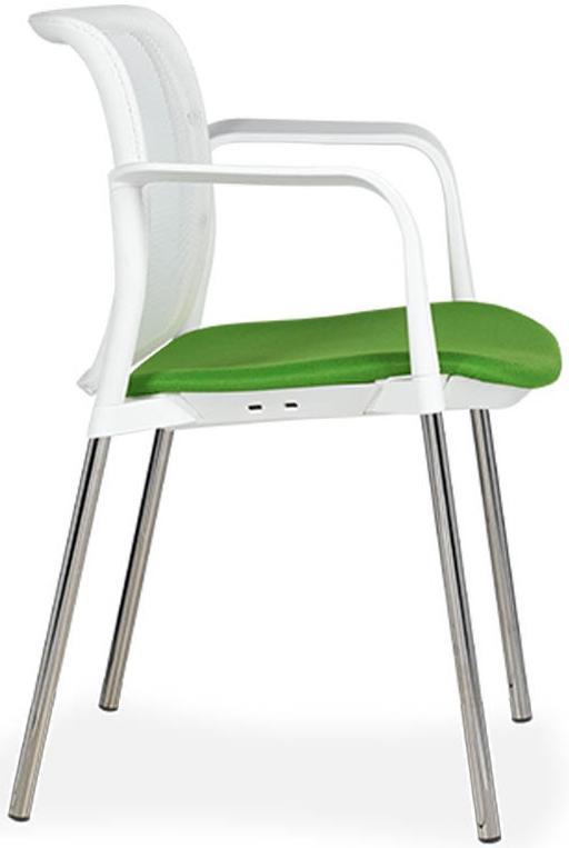 Silla Zoe F tapizado asiento respaldo en malla blanca