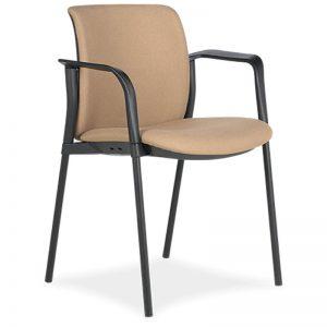Silla Zoe F tapizado asiento y respaldo marco tapizado estructura negra