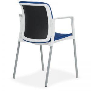 Silla Zoe tapizado asiento y respaldo marco respaldo blanco