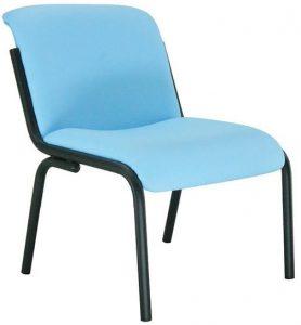 Butaca Palma asiento y respaldo tapizado estructura de tubo