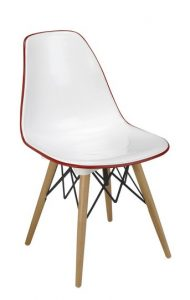 Silla M 1700 blanca trasera roja