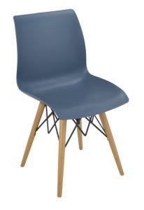 Silla M 1710 azul estructura madera