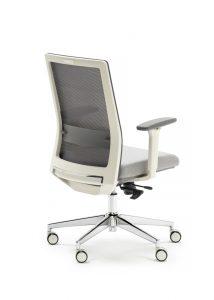 Silla Niza respaldo en malla. asiento tapizado brazos regulables sistema sincro