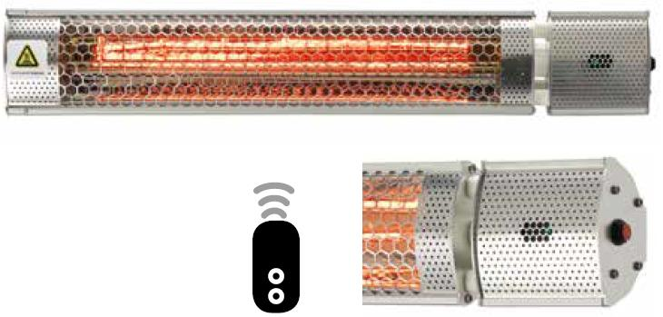 Calefactores Halógenos M9330 regulable para exterior con mando a distancia