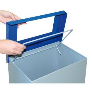 Detalle tapa Papelera reciclaje