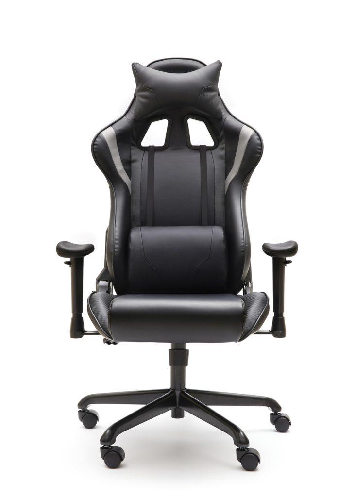 Sillas Magnum Gamer negra y gris basculante y brazos regulables