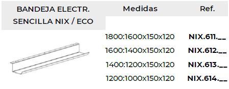 Bandeja electrificación y cableado sencilla