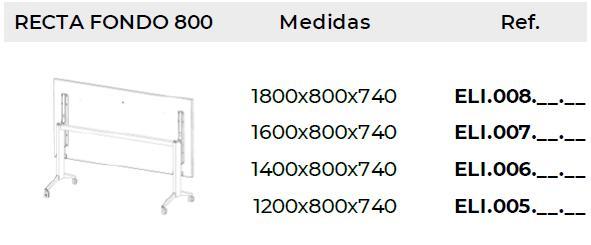 Medidas mesas elis folding fondo 80