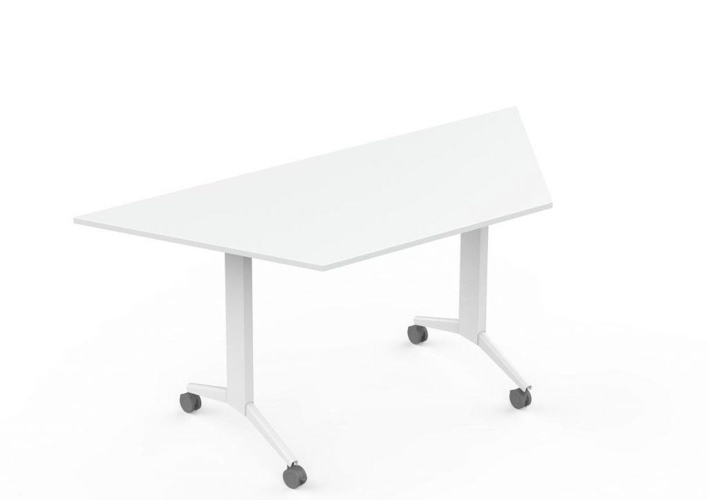 Mesas Elis Folding trapecio color blanco