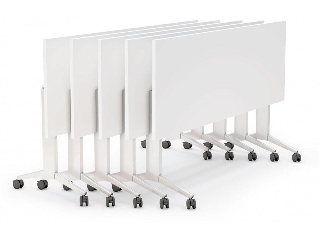 Mesas Elis Folding blancas plegadas estructura blanca