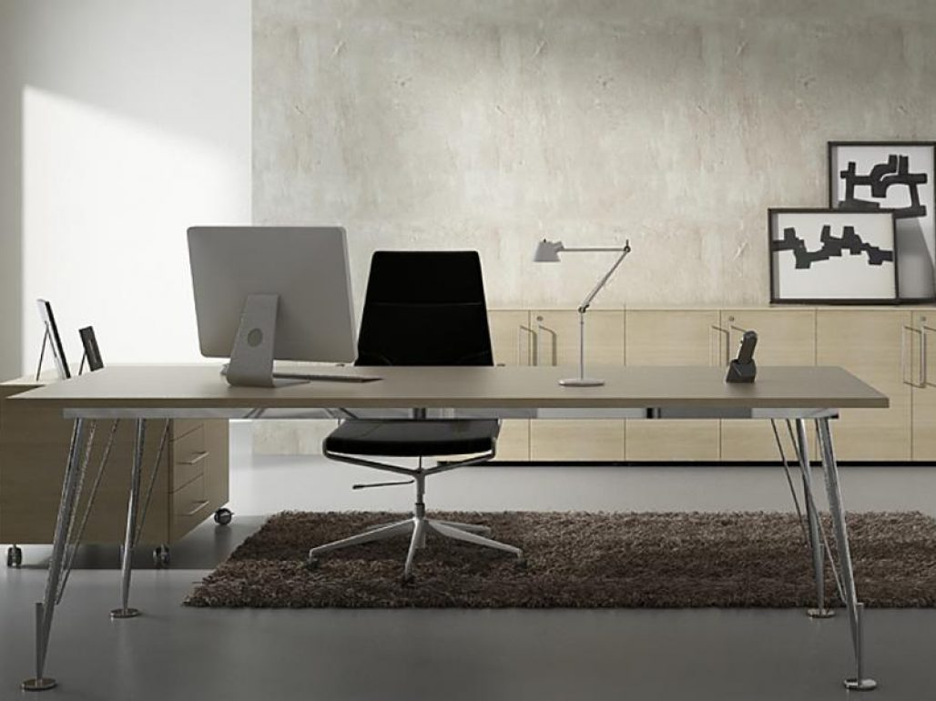 Mesas despacho para dirección eos tapa de cristal